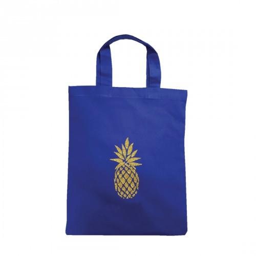 Tote bag mini ananas bleu personnalisable