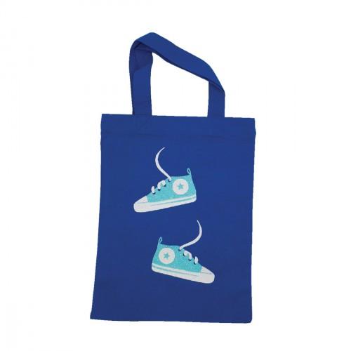 Tote bag mini baskets bleu personnalisable