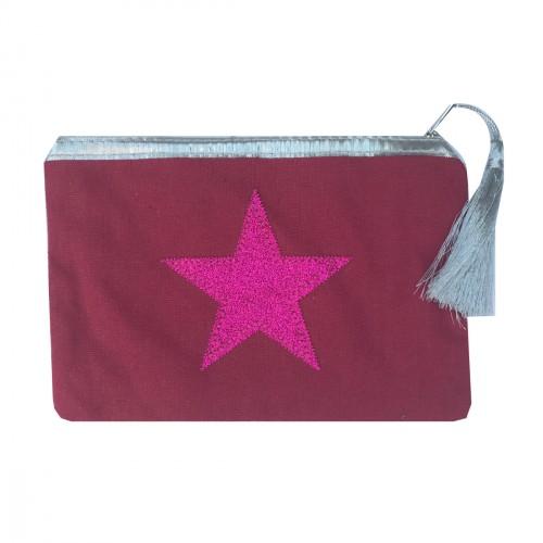 Pochette rouge étoile rouge personnalisable