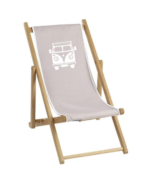 Chaise longue toile coton voiture personnalisable