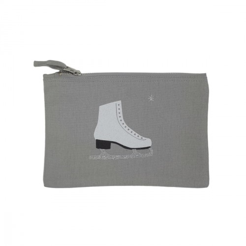 Pochette grise patin à glace