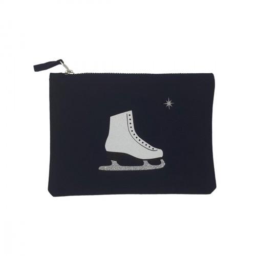 Pochette bleu marine patin à glace