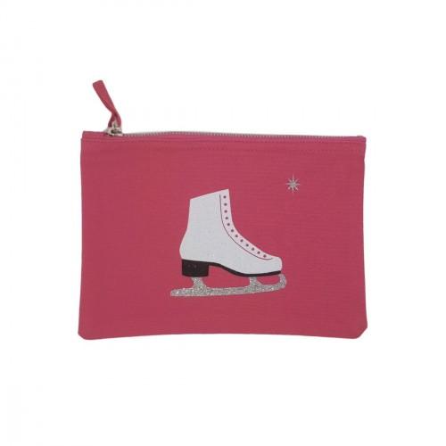 Pochette rose patin à glace