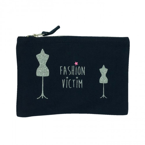 Pochette bleu marine Fashion victim