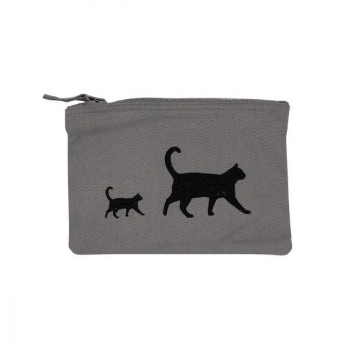 Pochette grise chats noirs