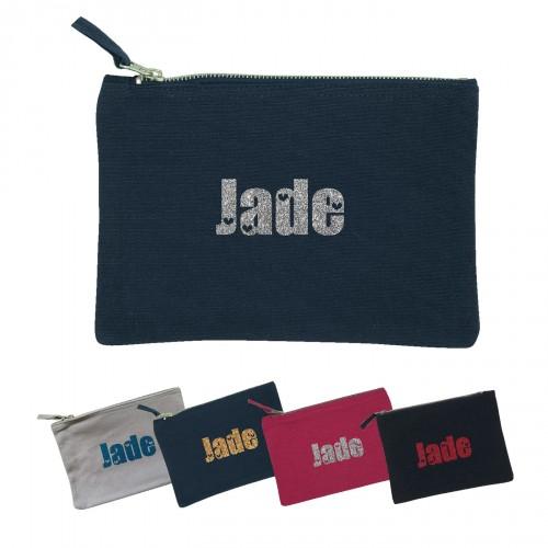trousse prénom pailleté Jade