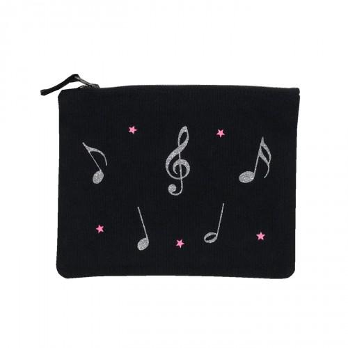 Pochette noire notes de musique