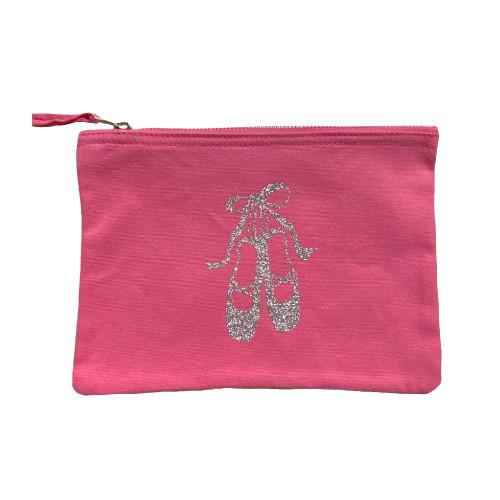 Trousse rose chaussons argent
