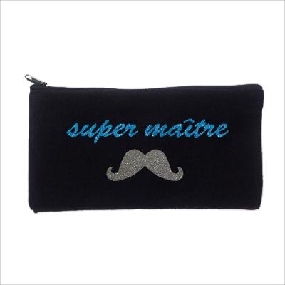 Trousse maître personnalisable noir super maître moustache
