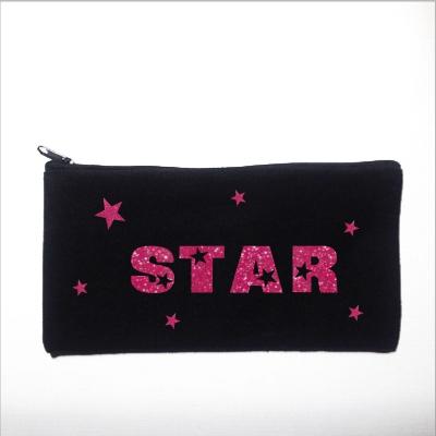 Trousse personnalisable noire star