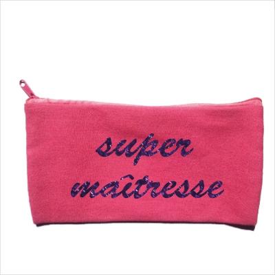 Trousse maîtresse personnalisable rose Super maîtresse