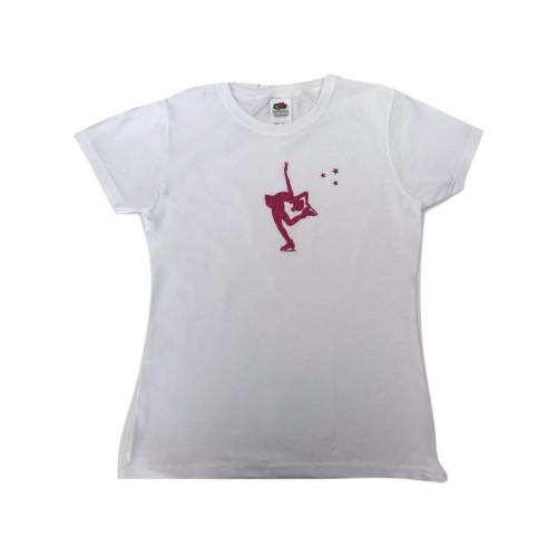 Tee shirt patineuse Cambrée Billman fuchsia