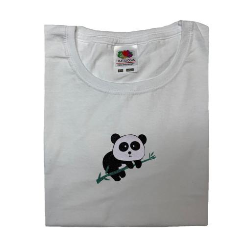tee shirt blanc panda