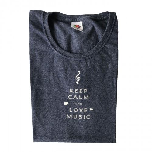 Tee shirt keep calm and love music