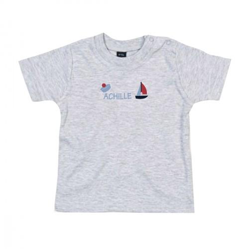 Tee-shirt bébé garçon marin personnalisable