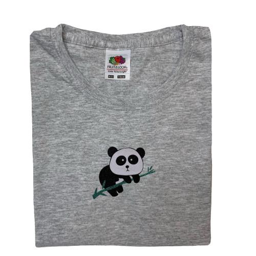 tee shirt gris panda