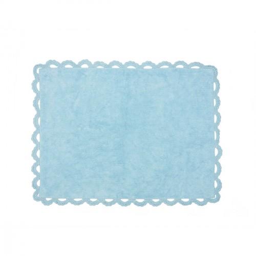 Tapis enfant coton Versailles bleu ciel