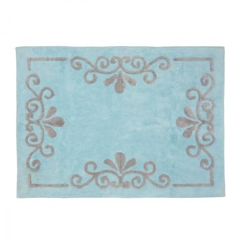 Tapis enfant coton Vienne bleu ciel