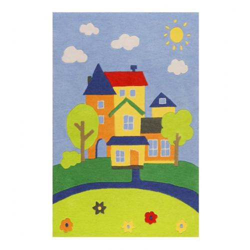 Tapis enfant Villa Villakulla coloré