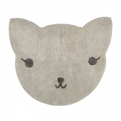 Tapis bébé coton lavable chat Lilou de Nattiot