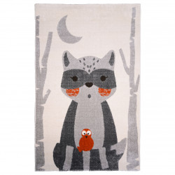 Tapis enfant raton laveur Harry de Nattiot