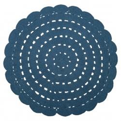 Tapis bébé coton lavable Alma bleu de Nattiot