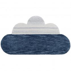 Tapis bébé laine nuage Greta bleu de Nattiot