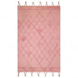 Tapis coton lavable Eemee rose de Nattiot