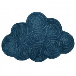 Tapis coton lavable Boréal bleu de Nattiot
