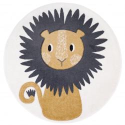 Tapis enfant rond lion JAGGO écru de Nattiot