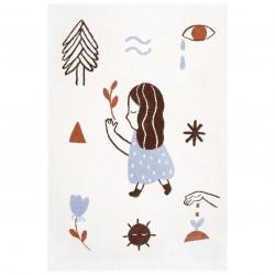 Tapis enfant fille LOVE écru by Marta Abad Blay de Nattiot (Gauche)