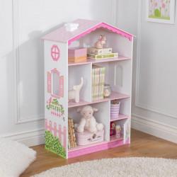 Bibliothèque petite maison de poupée