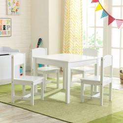 Ensemble table et 4 chaises enfant Farmhouse - Blanc