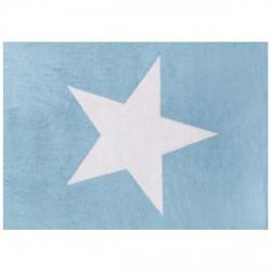 Tapis enfant coton étoile Estela bleu ciel