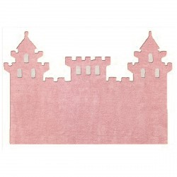 Tapis chateau rose