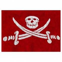 Tapis drapeau pirate rouge
