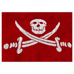 Tapis drapeau pirate rouge