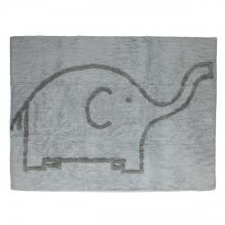 Tapis éléphant gris