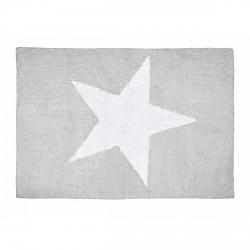 Tapis enfant coton étoile Estela gris