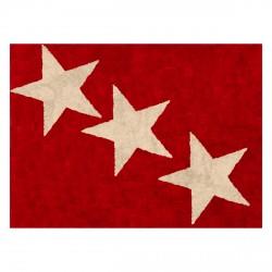 Tapis enfant coton étoiles Europe rouge