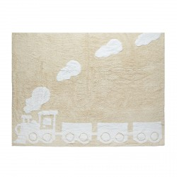 Tapis train beige