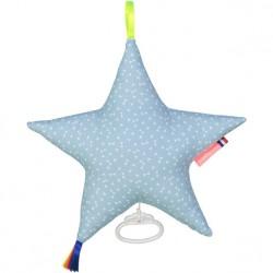 Boite à musique étoile NELLY bleu ciel