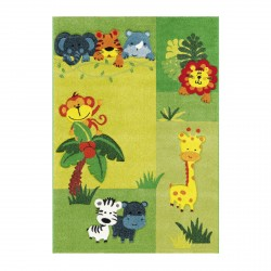 Tapis enfant animaux de la jungle