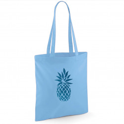 Tote bag bleu ciel turquoise
