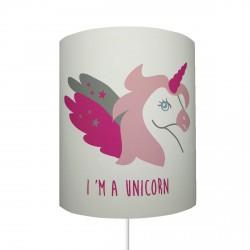 Abat jour I'm a unicorn personnalisable