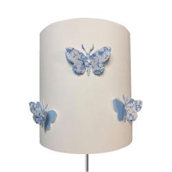 Abat jour ou Suspension papillon 3D rose Mitsi  bleu ciel