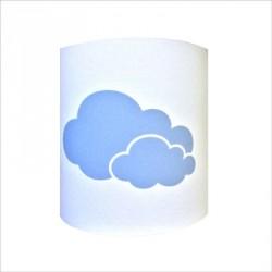 Abat jour ou Suspension 2 nuages bleu personnalisable