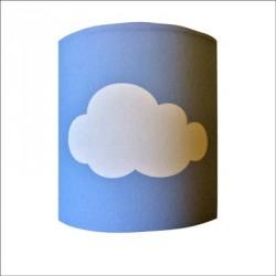 Abat jour ou Suspension  nuage blanc fond bleu personnalisable