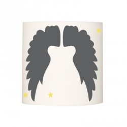 Abat jour ou suspension ailes d'anges unies gris foncé