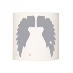 Abat jour ou suspension ailes d'anges unies grises